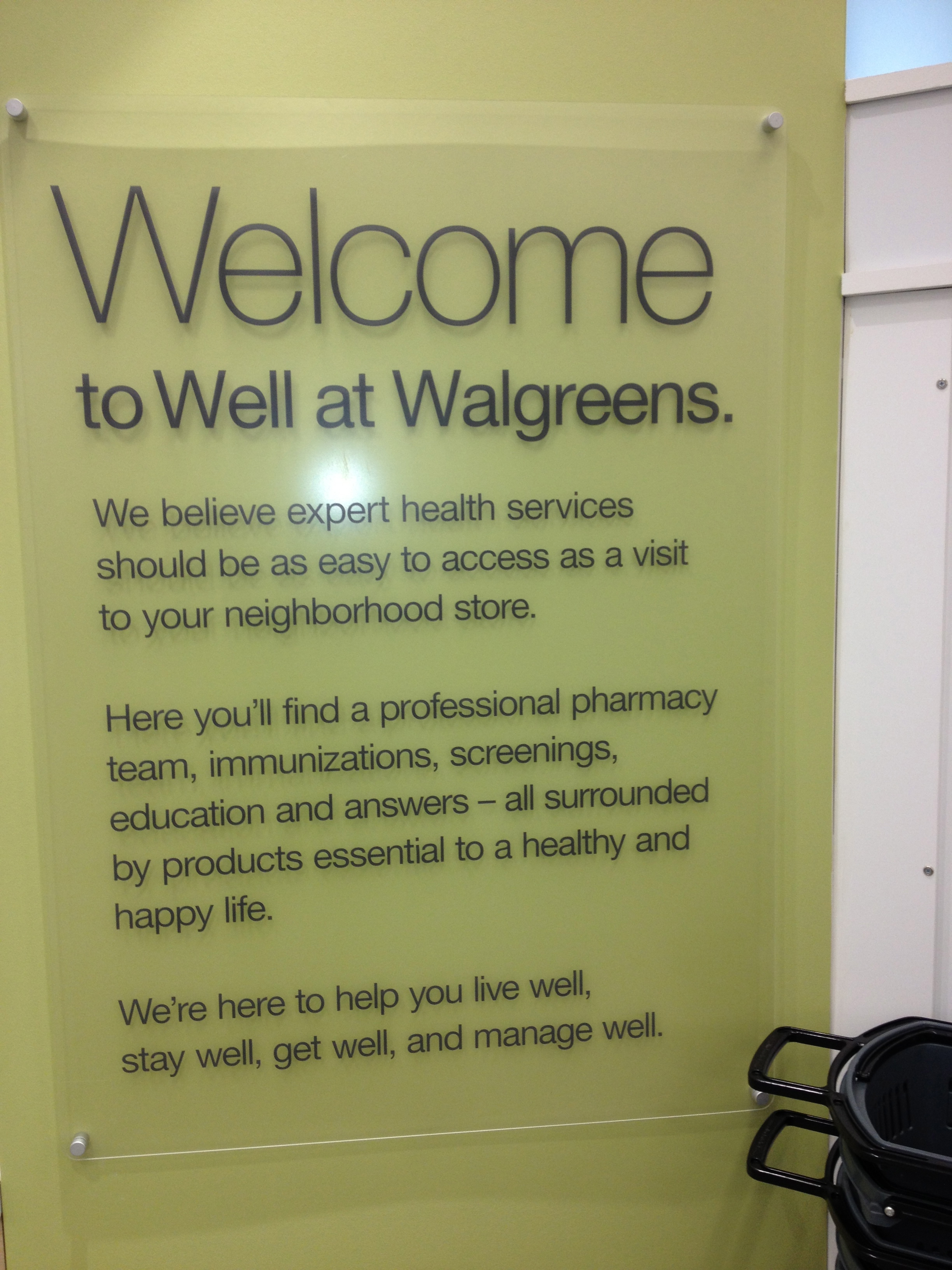 Welcome at Walgreens